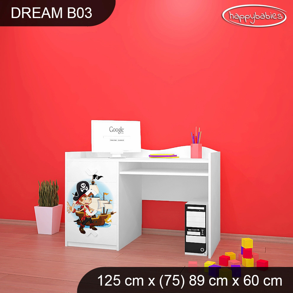 a64f1a07cd2f9 Detský písací stôl MALÝ PIRÁT - TYP 3 | e-shop Maxmax.sk