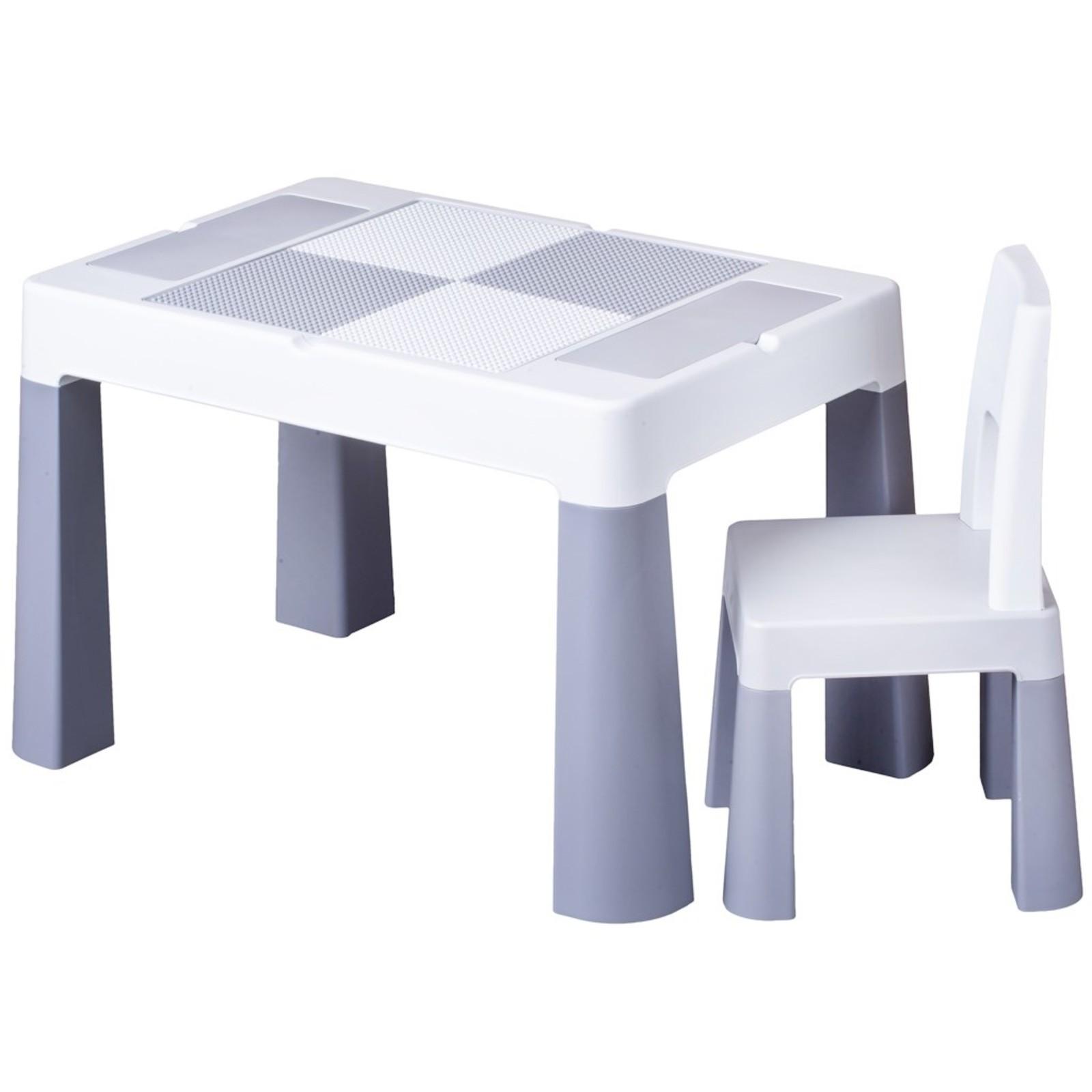 4f8071c59b17 Detský stolček sa stoličkou TEGA MULTIFUN - sivý ...