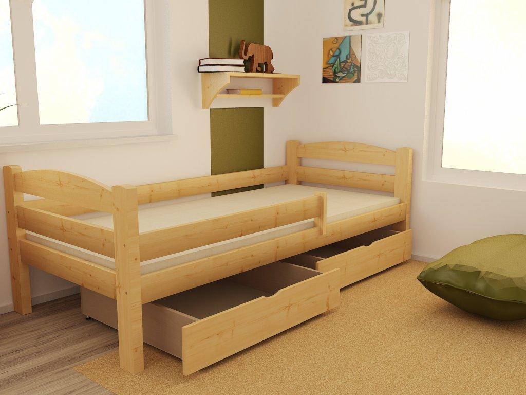 05ef3b404 Detská posteľ z masívu 200x90cm bez šuplíku - DP005 | e-shop Maxmax.sk