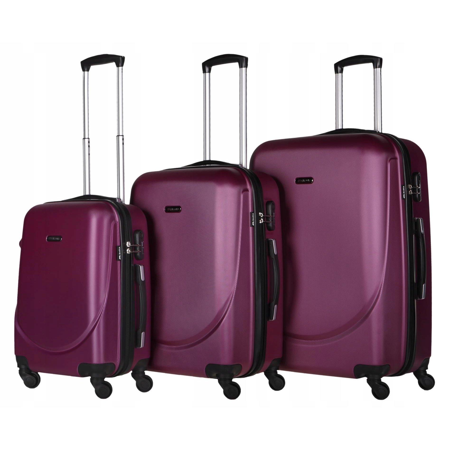 f70ad23b82cf5 Cestovný kufor MILANO - purpurový | e-shop Maxmax.sk