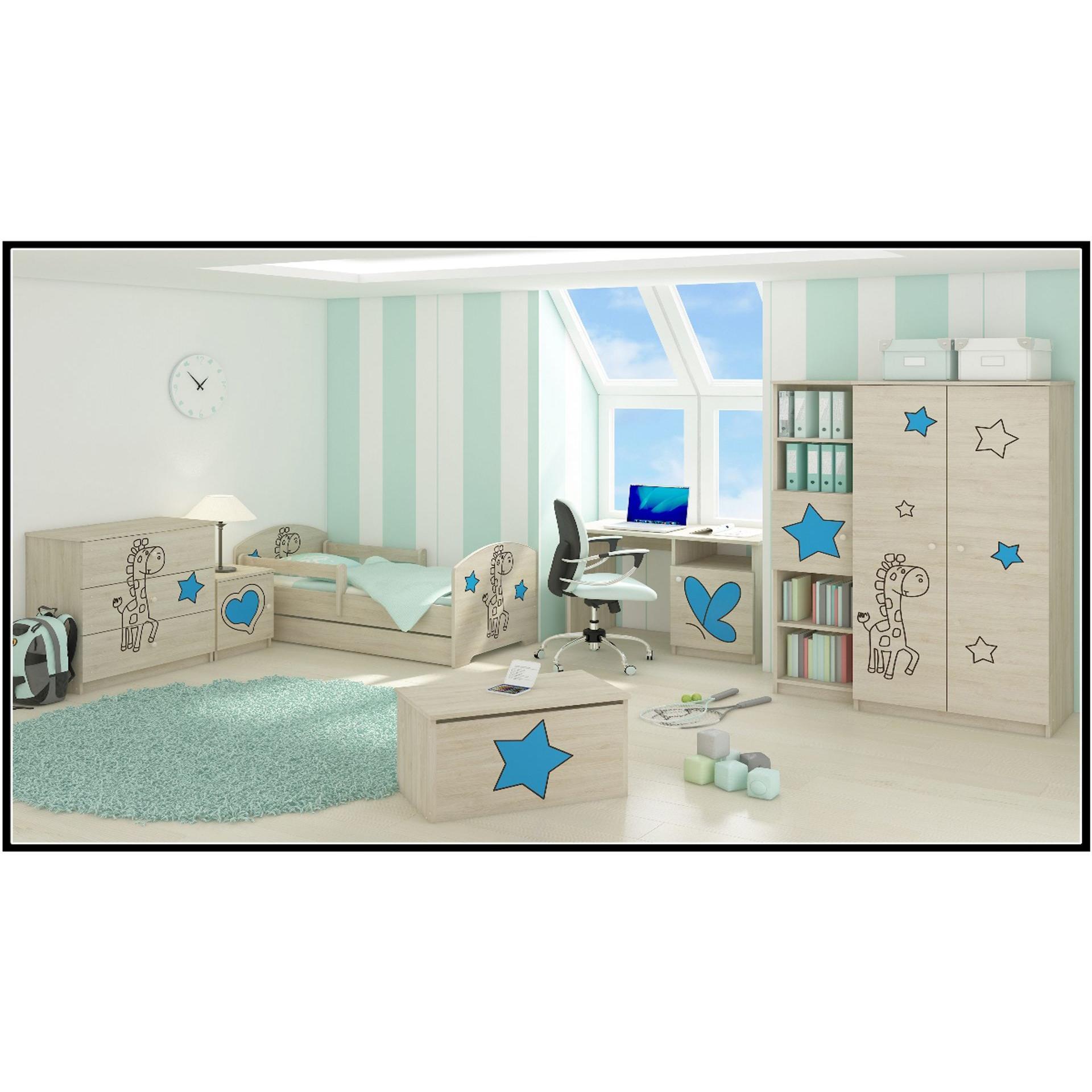 e16bf1704082 Detské izby - zostava ŽIRAFA - modrá ...