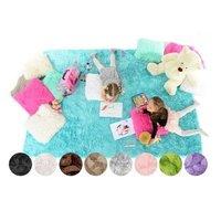 Plyšový detský koberec CAPPUCCINO