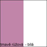 Farebné prevedenie - tmavo ružová / biela