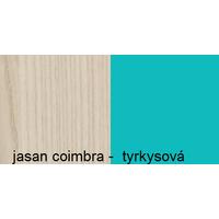 Farebné prevedenie - jaseň coimbra / tyrkysová