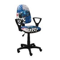 Detská otočná stolička BRANDON - FORMULA modrá