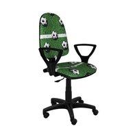 Detská otočná stolička BRANDON - FUTBAL zelená