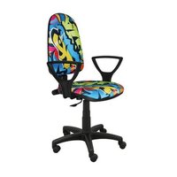 Detská otočná stolička BRANDON - GRAFFITI color