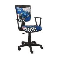 Detská otočná stolička SIMON - FORMULA modrá
