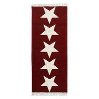 Behúň 80x200 Fringe Stars - červený