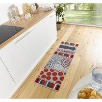Behúň KITCHEN Cook & Clean - červeno-šedý