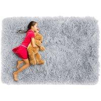 Plyšový detský koberec MAX ŠEDÝ