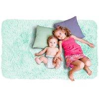 Detský plyšový koberec MAX mätový