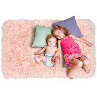 Plyšový detský koberec MAX svetlo ružový