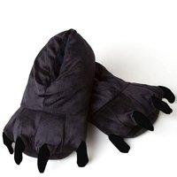 Plyšové papuče KIGU - čierny panter