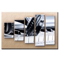 Päťdielny OBRAZ na plátne PIANO - vzor 16