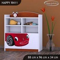 Detský úložný regál RED CAR - TYP 11 - NÍZKY