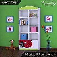 Detský úložný regál RED CAR - TYP 11 - VYSOKÝ