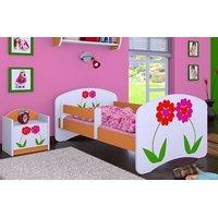 Detská posteľ bez šuplíku 180x90cm KVETINKY
