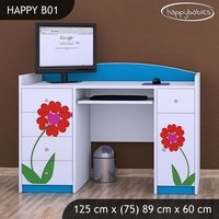 Detský písací stôl KVETINKY - TYP 1