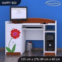 Detský písací stôl KVETINKY - TYP 2