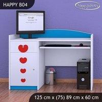 Detský písací stôl KVETINKY - TYP 4
