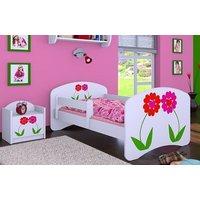 Detská posteľ bez šuplíku 160x80cm KVETINKY