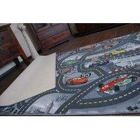 Detský koberec CARS ŠEDÝ