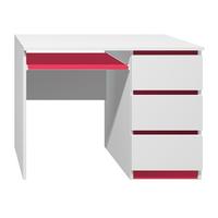 Písací stôl - CITY TYP A - červená