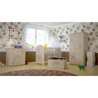 Detská izbová zostava s výrezom PSÍK - prírodná