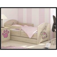 Detská posteľ s výrezom PSÍK - ružová 160x80 cm