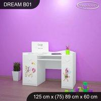 Detský písací stôl Jednorožec A DUHA - TYP 1