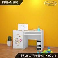 Detský písací stôl Jednorožec A DUHA - TYP 5
