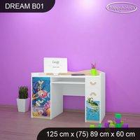 Detský písací stôl MORSKÝ SVET - TYP 1