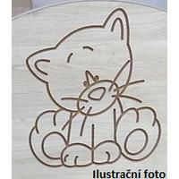 Detský nočný stolík s výrezom ŽIRAFA - ružová