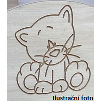 Detská postieľka s výrezom ŽIRAFA - ružová 120x60 cm