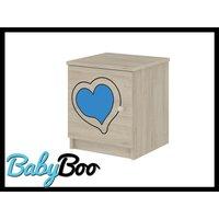 Detský nočný stolík s výrezom ŽIRAFA - modrá