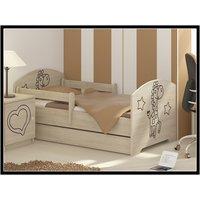 Detská posteľ s výrezom ŽIRAFA - prírodná 160x80 cm + matrac ZADARMO!