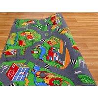 Detský koberec dedinkou