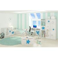 Detská izba s výrezom ŽIRAFA - modrá - Nórska borovica