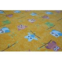 Detský koberec Sovy zlatý