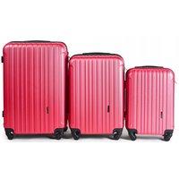 Moderné cestovné kufre FLAMENGO - ružové