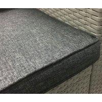 Záhradná ratanová zostava BARBADOS - svetlo šedá