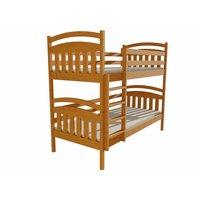 Detská poschodová posteľ z MASÍVU 200x80cm so zásuvkami - PP003