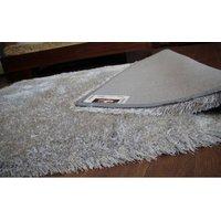 Kusový koberec SHAGGY LOVE - strieborný
