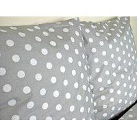 Detské bavlnené obliečky bodky - sivé