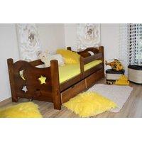 SKLADOM: Detská posteľ z MASÍVU 160x70cm so zásuvkou - DP021 - morenie dub