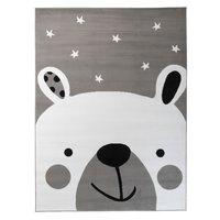 Detský koberec PASTEL ľadový medvedík - sivý - 160x220 cm