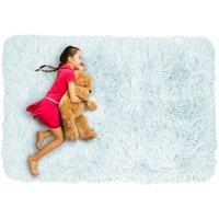 Detský plyšový koberec MAX SVETLE MODRÝ
