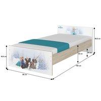 SKLADOM: Detská posteľ MAX bez šuplíku Disney - MINNIE II 160x80 cm + 2x zábrana