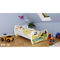 Detská posteľ so zásuvkou 140x70 DINOSAURI + matrace ZADARMO!